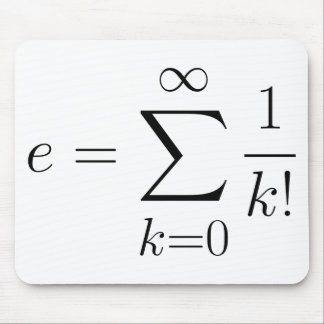 Euler's number series mouse pad