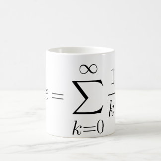 Euler's number series classic white coffee mug