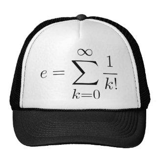 Euler's number series trucker hat