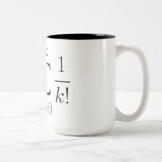 Euler's number series Two-Tone coffee mug