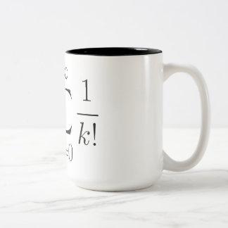 Euler's number series Two-Tone coffee mug