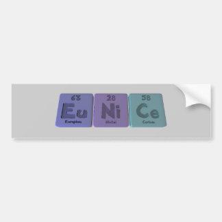 Eunice  as Europium Nickel Cerium Bumper Sticker