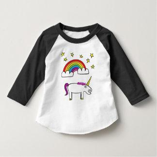 Eunice el unicornio - manga del niño 3/4 playera
