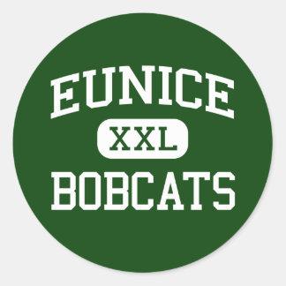 Eunice - linces - mayor - Eunice Luisiana Pegatina Redonda