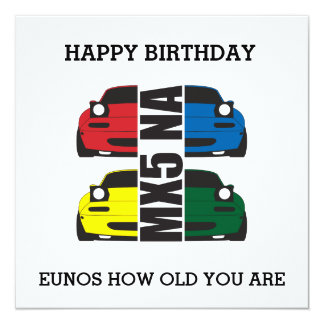 EUNOS how old you are Birthday Card