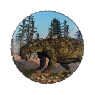 Euoplocephalus dinosaur - 3D render Candy Tin