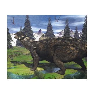 Euoplocephalus dinosaur - 3D render Canvas Print