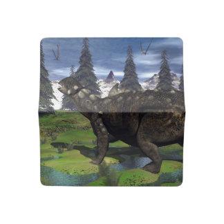 Euoplocephalus dinosaur - 3D render Checkbook Cover