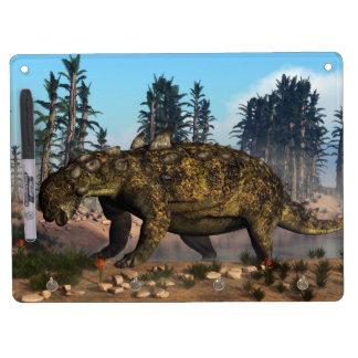 Euoplocephalus dinosaur - 3D render Dry Erase Board With Keychain Holder