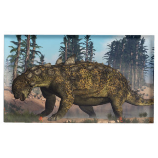 Euoplocephalus dinosaur - 3D render Place Card Holder
