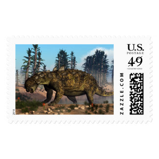 Euoplocephalus dinosaur - 3D render Postage