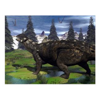 Euoplocephalus dinosaur - 3D render Postcard
