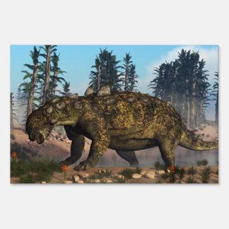 Euoplocephalus dinosaur - 3D render Sign