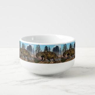 Euoplocephalus dinosaur - 3D render Soup Mug