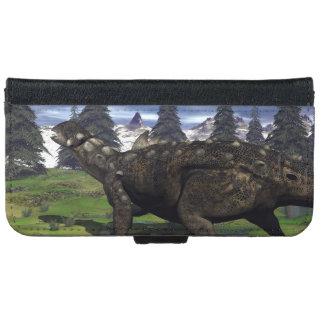Euoplocephalus dinosaur - 3D render Wallet Phone Case For iPhone 6/6s