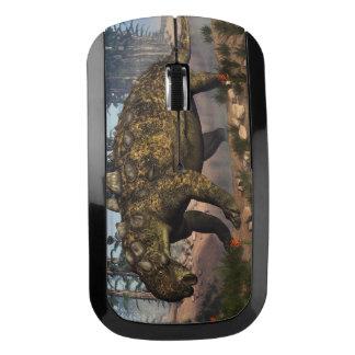 Euoplocephalus dinosaur - 3D render Wireless Mouse