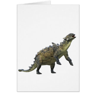 Euoplocephalus Standing and Roaring Card