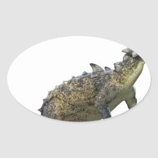 Euoplocephalus Standing and Roaring Oval Sticker