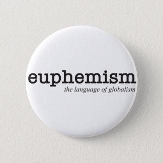 Euphemism.  The language of globalism. Button