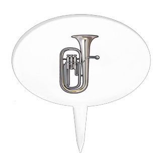 euphonium brass instrument music realistic.png cake topper