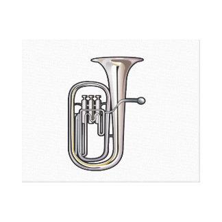 euphonium brass instrument music realistic.png canvas print