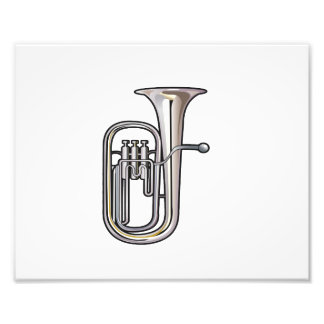 euphonium brass instrument music realistic.png photographic print
