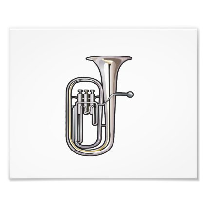 euphonium brass instrument music realistic.png photographic print