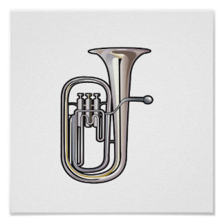 euphonium brass instrument music realistic.png poster
