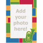 "Euphonium Colorblocks Photo Sculpture<br><div class=""desc"">Add your own Euphonium player to this colorful frame.</div>"