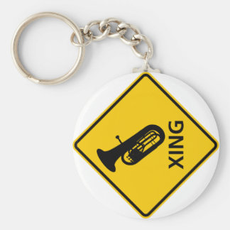 Euphonium Crossing Highway Sign Key Chains