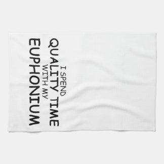Euphonium del tiempo de la calidad toalla de cocina