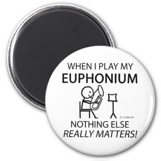 Euphonium Nothing Else Matters 2 Inch Round Magnet