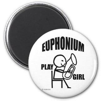 Euphonium Play Girl 2 Inch Round Magnet