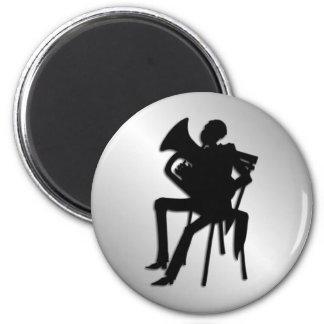 Euphonium Player 2 Inch Round Magnet