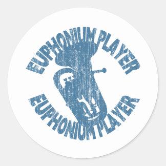 Euphonium Player Classic Round Sticker