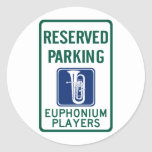 Euphonium Players Parking Stickers