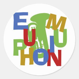 EUPHONIUM Scramble Classic Round Sticker