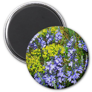 Euphorbia And Veronica 2 Inch Round Magnet
