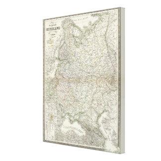 EUR Russland - Europa, Rusia Impresión En Lienzo Estirada