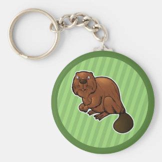 Eurasian Beaver Keychain