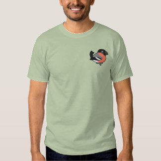 Eurasian Bullfinch Embroidery Embroidered T-Shirt