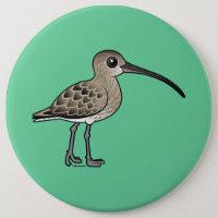 Eurasian Curlew Round Button
