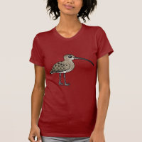Eurasian Curlew Women's American Apparel Fine Jersey Short Sleeve T-Shirt