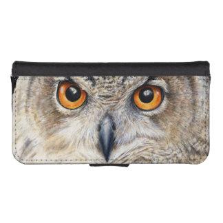 Eurasian Eagle Owl fine art flap case Phone Wallet