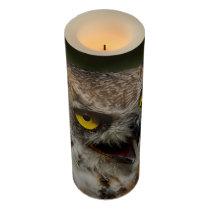 Eurasian eagle-owl flameless candle