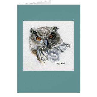 """Eurasian Eagle Owl"" Greeting Cards"