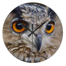Eurasian Eagle-owl Large Clock