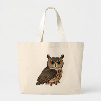 Eurasian Eagle-Owl Large Tote Bag