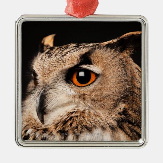 Eurasian Eagle Owl Metal Ornament