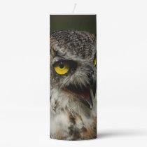 Eurasian eagle-owl pillar candle